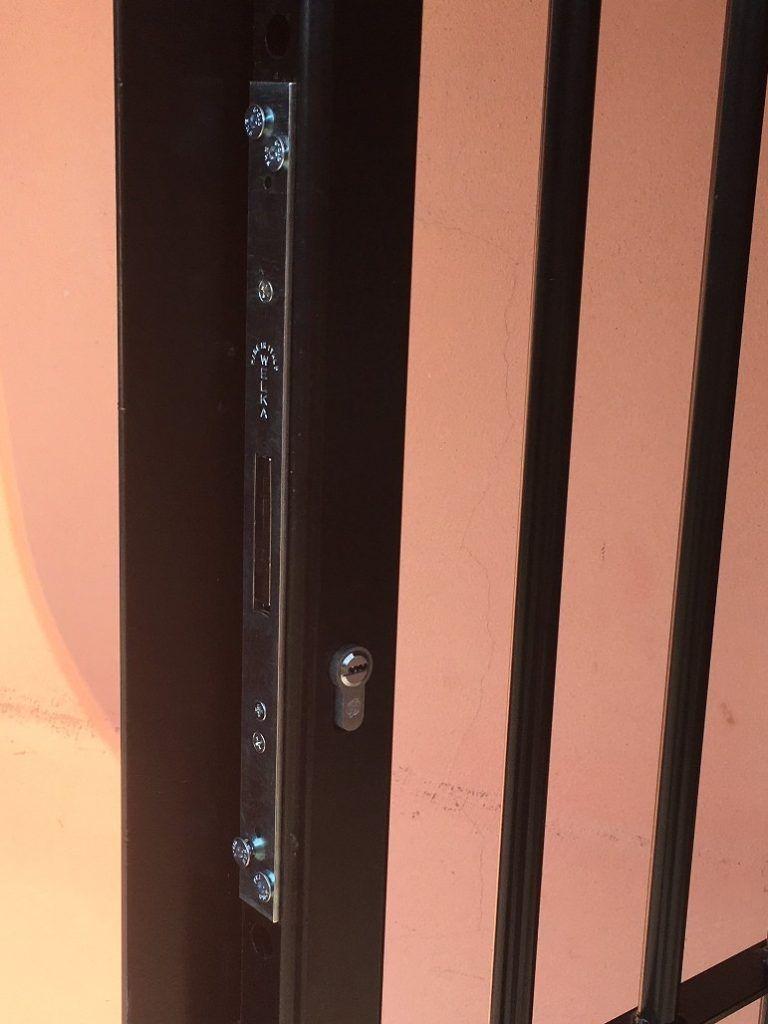 serratura per inferriata a 3 punti