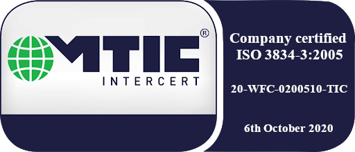 ISO 3834 certification
